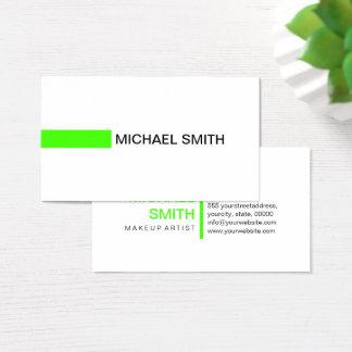 Modern Harlequin Elegant Professional Plain White Business Card