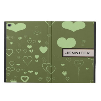 Modern Heart Elegant Moss Green Powis iPad Air 2 Case