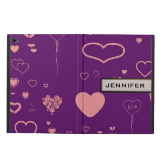 Modern Heart Elegant Purple Powis iPad Air 2 Case