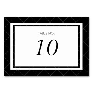 Modern Heart Table Number Card