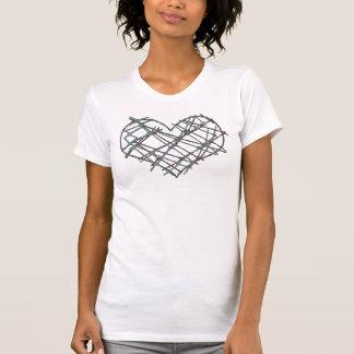 Modern heart tee-shirts