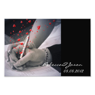 modern hearts Lovers Las Vegas Wedding Photo Print