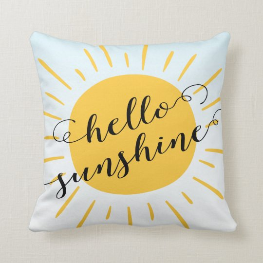 Modern Hello Sunshine Decorative Throw Pillow