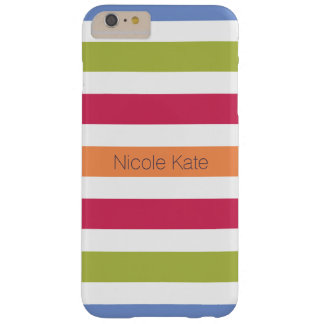 modern hilarious multicolored monogram barely there iPhone 6 plus case