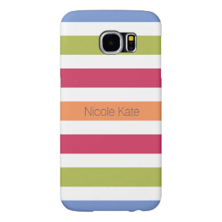 modern hilarious multicolored monogram samsung galaxy s6 cases