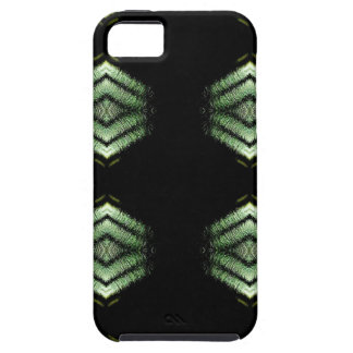 Modern Hip Black Green Pattern iPhone 5 Cases