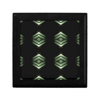 Modern Hip Black Green Pattern Jewelry Boxes