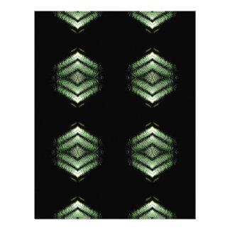 Modern Hip Black Green Pattern Letterhead