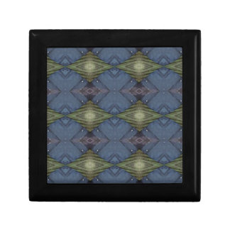 Modern Hip Blue Earth Green Diamond Pattern Gift Box