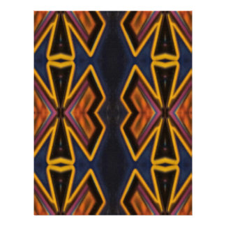 Modern Hip Masculine Pattern Letterhead Template