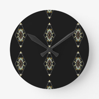 Modern Hip Masculine Pattern Round Clock
