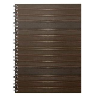 Modern Hip Shades of Brown Textured Pattern Notebooks