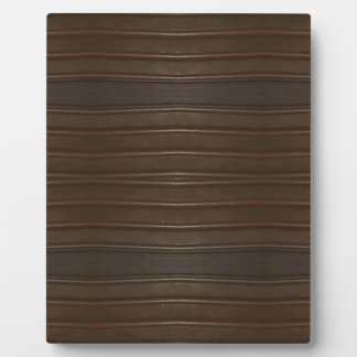 Modern Hip Shades of Brown Textured Pattern Plaque