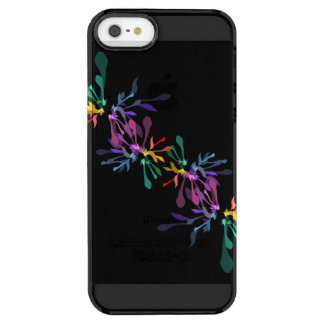 Modern Hippie Rainbow Fireworks Pattern Clear iPhone SE/5/5s Case