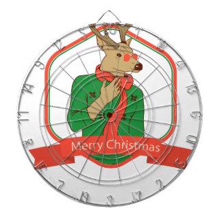 modern hipster reindeer dartboard