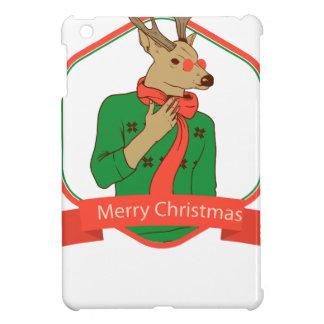 modern hipster reindeer iPad mini case