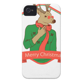 modern hipster reindeer iPhone 4 cover