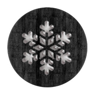 Modern Holiday Black And White Snowflake Boards