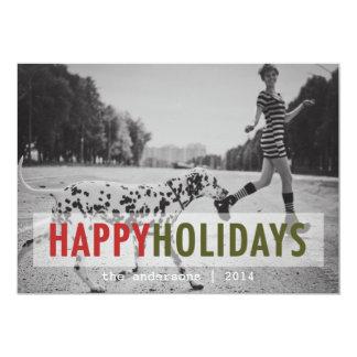 "MODERN HOLIDAY | HOLIDAY PHOTO CARD 5"" X 7"" INVITATION CARD"
