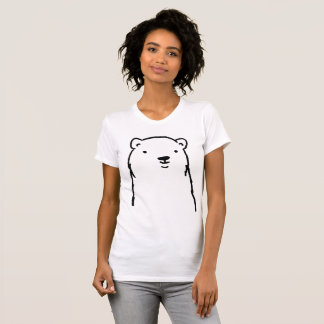 Modern Holidays Winter Polar Bear  Minimalist T-Shirt