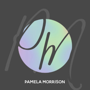 Hologram business cards profile cards zazzle ca modern holographic circle monogram business card colourmoves