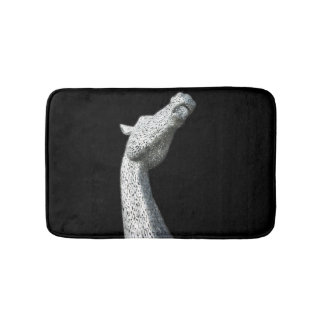 Modern home abstract silver horse bathroom rug