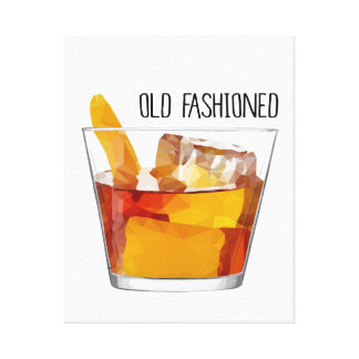 Modern Home Decor Old Fashioned Cocktail Canvas