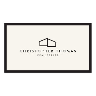 Modern Home Logo for Real Estate, Realtor Business Card