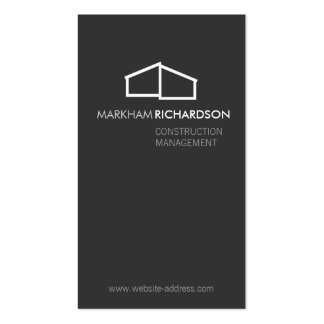 Modern Home Logo on Gray for Construction, Realtor Pack Of Standard Business Cards