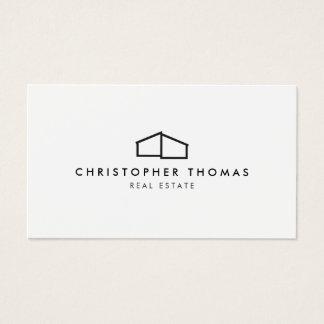 Modern Home Logo on White for Real Estate, Realtor Business Card