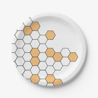 Modern Honeycomb | Celebration 7 Inch Paper Plate