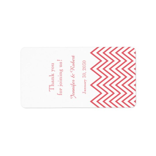 Modern Honeysuckle Chevron Wedding Lip Balm Label