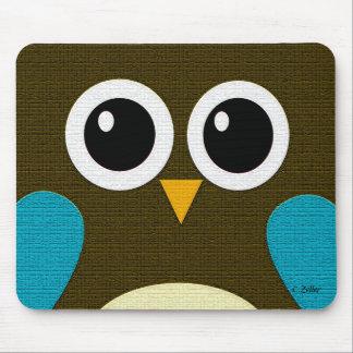 Modern Hoot Owl Mousepad