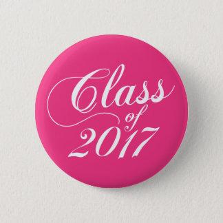 Modern Hot Pink | Graduation 2 Inch Round Button