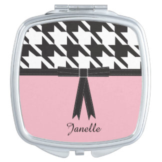 Modern Houndstooth Compact Mirror