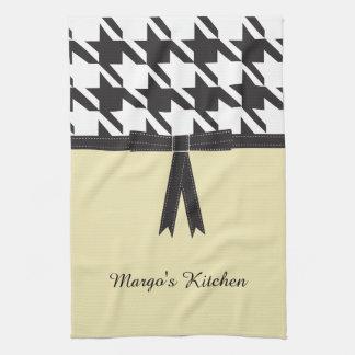 Modern Houndstooth Kitchen Towel