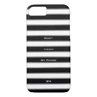 Modern Humor Unisex Classic Stripes, Black iPhone 7 Case