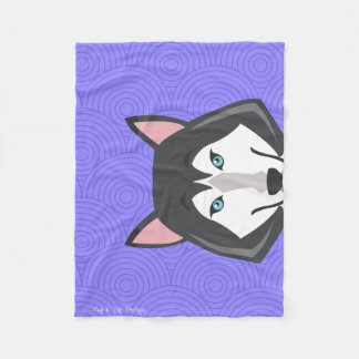 Modern Husky Art Pop Blanket - Small