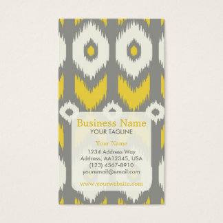 Modern Ikat Pattern Appointment Business Card