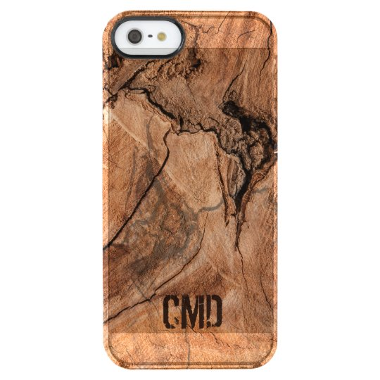 Modern Imitation Wood With Knots Clear iPhone SE/5/5s Case