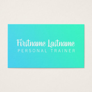 Modern Impact Ombre Fitness Business Cards