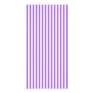 Modern indigo stripes pattern photo card