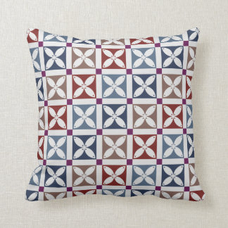 "Modern Indonesia Javanese Batik ""Kawung"" Throw Pillow"