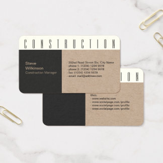 Modern industrial concrete style look business card