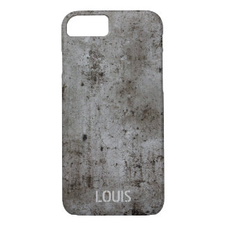 Modern Industrial urban grunge rusty concrete iPhone 8/7 Case
