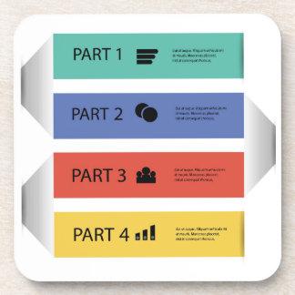 modern info graphic coaster