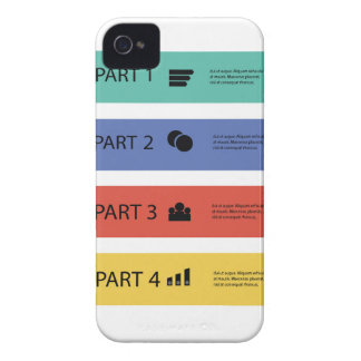 modern info graphic iPhone 4 cover