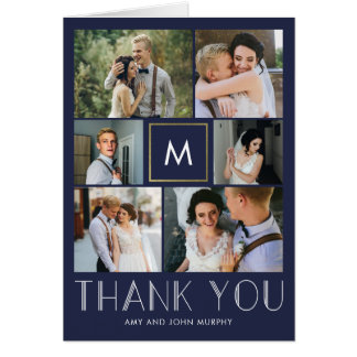 Modern Initial EDITABLE COLOR Thank You Card