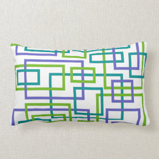 Modern Interlock Geometric Lumbar Pillow