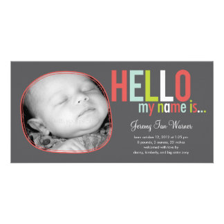 Modern Introduction Baby Birth Announcement Photo Cards